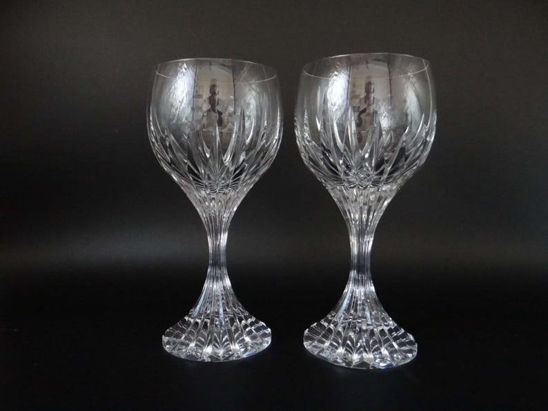 260f1f6c8868 Near Mint Set of 2 Signed Baccarat Massena France Lead Crystal
