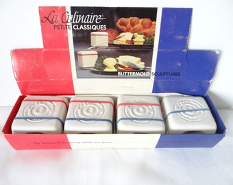 La Culinaire Shell Butter Molds - Set of Four Molds in the Original Box - Butter Pat Molds