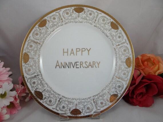 Plaque de mariage Vintage Norcrest joyeux anniversaire