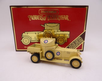 MIB Vintage Matchbox Special Edition YS-38 Models of Yesteryear 1920 Rolls-Royce Armoured Car Diecast Model Car in Original Box