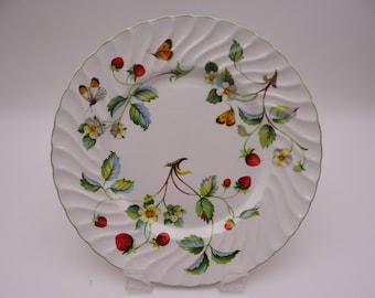 """1950s Old Foley English Bone China Charming """"Strawberry"""" Salad Plate or Dessert Plate - 3 Available"""