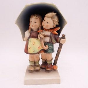 HUMMEL Porcelain Figurine Original Handmade Gift Idea Charming Moments SALE GOEBEL Umbrella 1950s Porcelain Umbrella