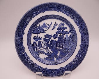 Vintage Johnson Bros England Blue and White Willow Ware Salad Plate - 5 Available