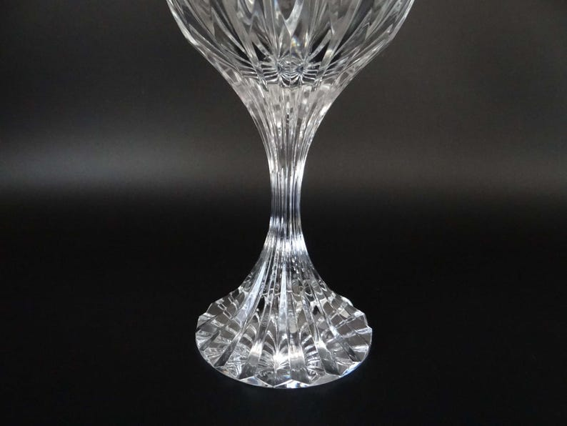 da59e8bb78a Signed Baccarat Massena Lead Crystal Water Goblet with Baccarat Sticker -  Elegant Crystal Goblet - Baccarat Crystal Goblet - Wine Goblet