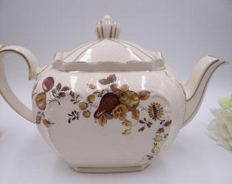 1940s Large Vintage Sadler English Bone China  Porcelain Teapot - Anyone for Tea
