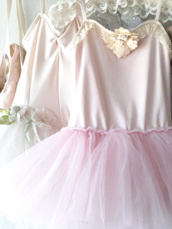 Lovely Vintage Pink Tulle and Lace Ballet Costume