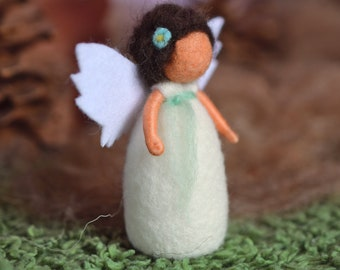 Little guardian angel - waldorf inspired, needle felted, sheep's wool, by Naturechild