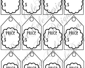picture about Printable Price Tags named Printable expense tags Etsy