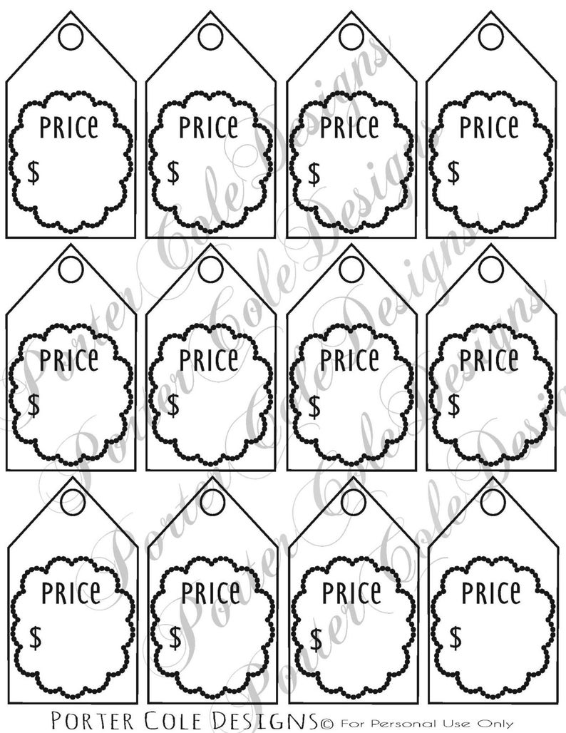 photo about Printable Price Tags identified as Value Tags Printable Electronic History