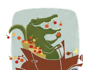 A is for Alligators, 11x14 print