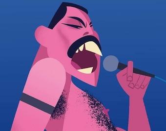 Freddie Mercury, 11x17 print