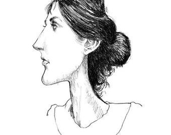 Virginia Woolf, 8.5x11 print