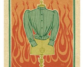 Triangle Shirtwaist Fire, 8.5x11 print