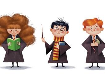 Harry Potter trio, 11x17 print
