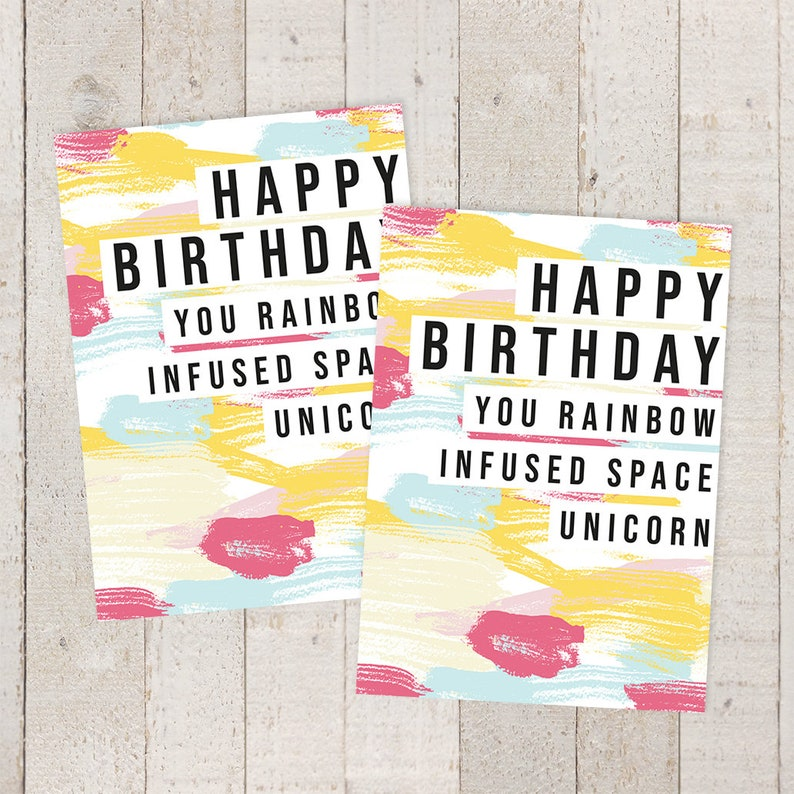 Birthday Card Humor Best Friend Watercolor