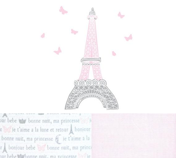 Etiquetas De La Pared De Torre Eiffel Paris Tela Wall Decals