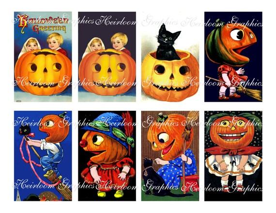 9 Digital download Vintage Halloween Postcard No