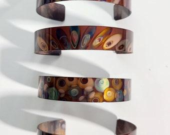 Flame Painted Copper Bracelet, copper bracelet, southwest, copper, copper cuff, colorful copper cuff bracelet, copper bangle, one of a kind