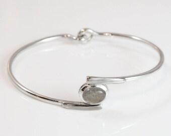 Labradorite Bracelet - Mokume Gane Gold & Silver