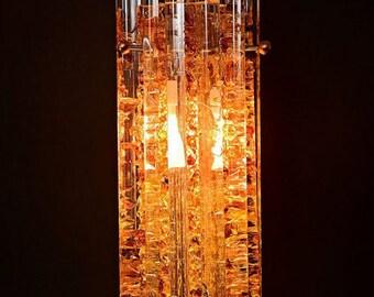 Custom Glass Amber Pendent Lights