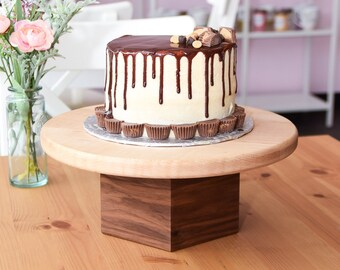Curly Maple and Walnut Cake Stand