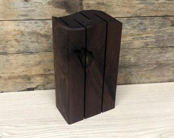 WAVE Wood Knife Block