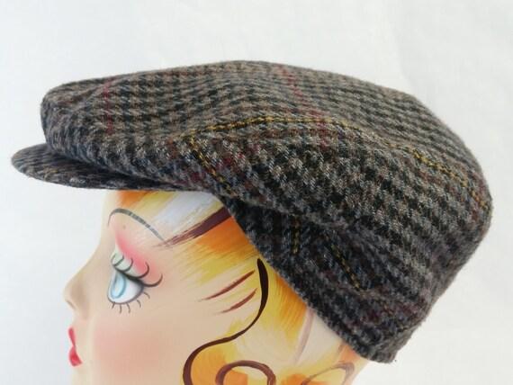 b90a9a1e818 Vintage COUNTRY GENTLEMAN Plaid Italian Cabbie Cap Newsboy Hat