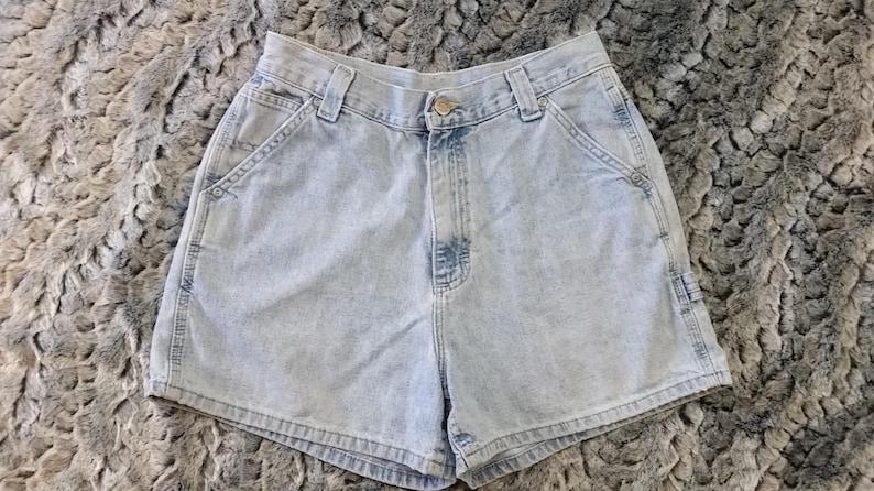 edcb494dbf LEE Denim Carpenter Shorts Women's 8 M rivited by LEE High | Etsy