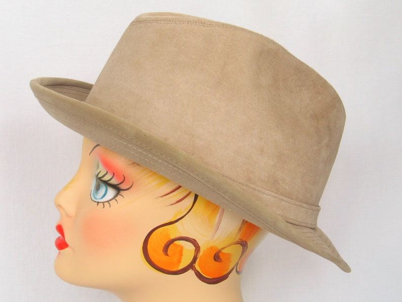 aa0baafee8c9d DOBBS Fifth Ave. N.Y. Taupe Suede Fedora Hat Men s Size
