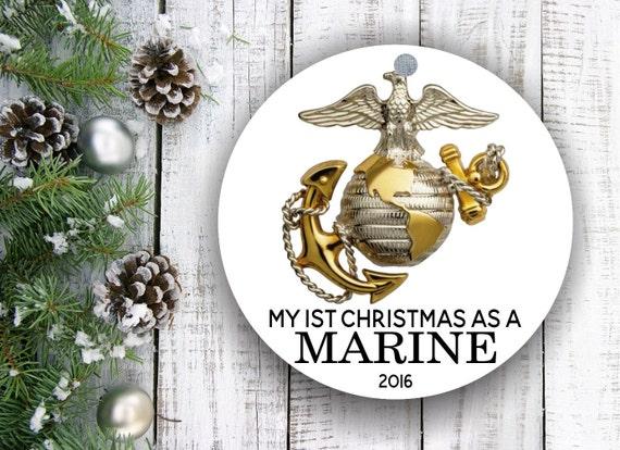 Marine Corps Marine Ornament Personalized Christmas | Etsy