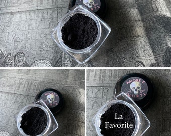 La Favorite - Rich Black Eyeshadow - Amore E Morte Collection - Vegan Makeup Goth Gothic Lolita Country Goth Witch Wiccan