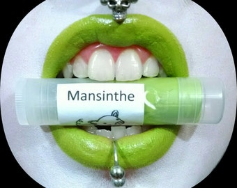 Mansinthe by Drac Makens - Bright Yellow Green Lipstick - Marilyn Manson Inspired Lipstick Gothic