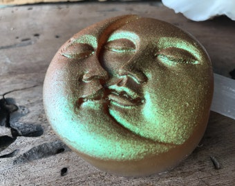 Blaze Moon and Sun Soap - Vegan - Body and Face Soap - Daisys Love Scent - Sulfate Free Bar Soap - Aloe and Olive Oil Soap