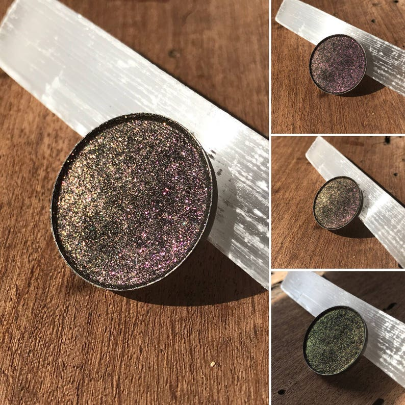 8af30a687e615 Debuff - MMO Collection - Tater Tot Pressed Eyeshadow - Eye Pigment -  Shimmer Gothic Goth - Witchy Vegan - Pink Bronze Copper