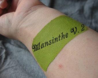 Mansinthe V 2  by Drac Makens - Cream Liquid Matte Bright Yellow Green Lipstick - Marilyn Manson Inspired Lipstick Gothic