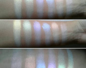 The Spectrum Collection - Buy One or A Set - Gothic Goth Ghost Rainbow Iridescent Eyeshadows Vegan Lip Topper