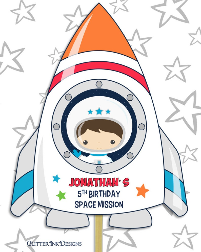 astronaut party printables - 570×716