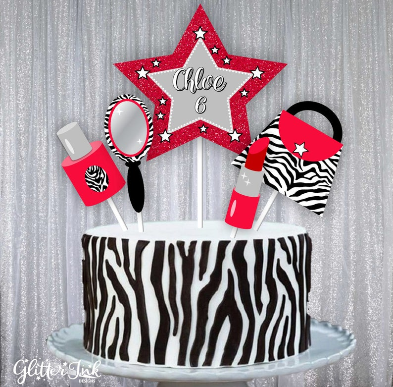 Diva Glam Spa Party Red With Black And White Zebra Stripe Pdf