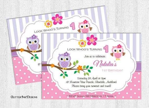 Owl birthday party invitation printable digital pdf or jpg etsy image 0 filmwisefo