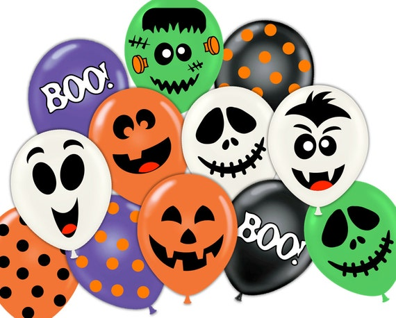 photo about Printable Ghost Face named Halloween Celebration pdf printable balloon encounter sticker