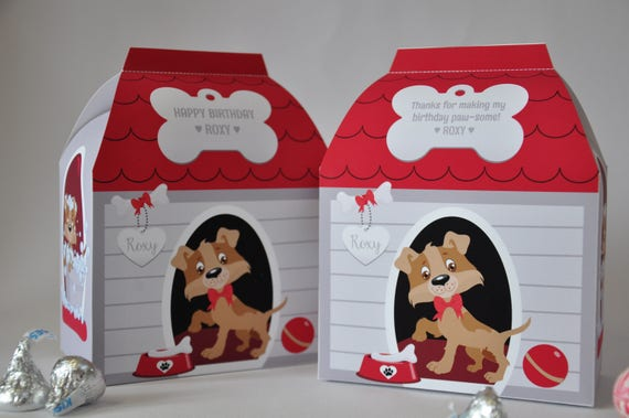 Puppy Dog House Favor Box Pdf Printable Doghouse Pet Spa Treat Box
