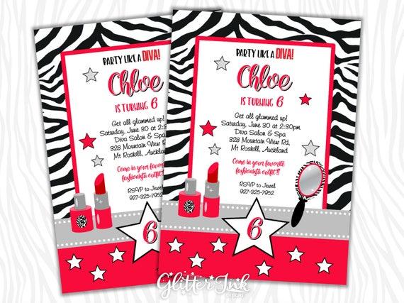 Diva Glam Spa Party Red With Black And White Zebra Stripe Pdf