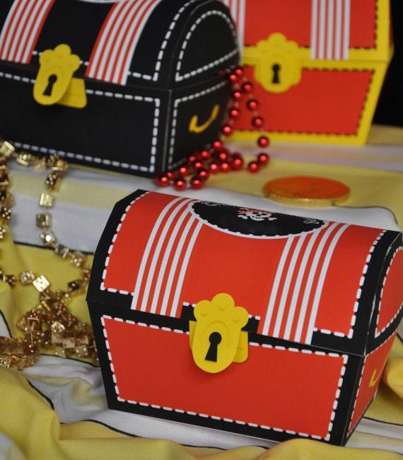 Pirate Party Treasure Chest Favor Boxes Pirate Party Favors Pirate Party Decorations Pirate Birthday Treasure Chest Favor Boxes