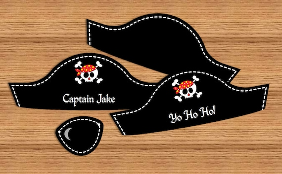 picture relating to Printable Pirate Hats titled Pirate Social gathering Terms EDITABLE pirate hat and eye patch - Yourself