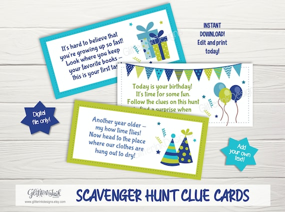 Birthday Scavenger Hunt Clues Treasure Hunt Clue Cards Rhyming Riddles Outdoor Indoor Activity For Kids Quarantine Birthday Game By Glitter Ink Designs Catch My Party