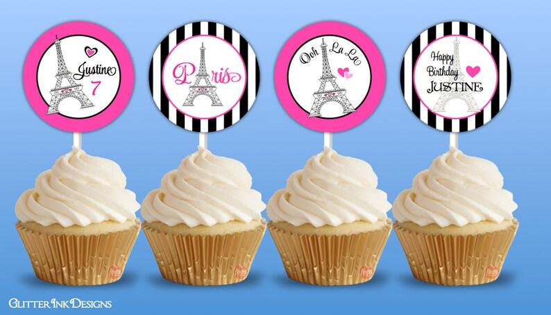 Pdf París Imprimible Partido Tags PijamasRosa Bolso Del Cupcake Cumpleaños ParisFiesta SpaDe Despedida Favor Círculos Topper R3jALq45