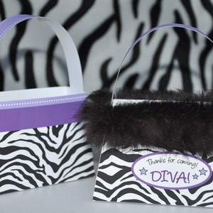 Details about  /NWT Animal Zebra Print  Pink Purse Ornament *Glam Diva All Occasion gift Holiday