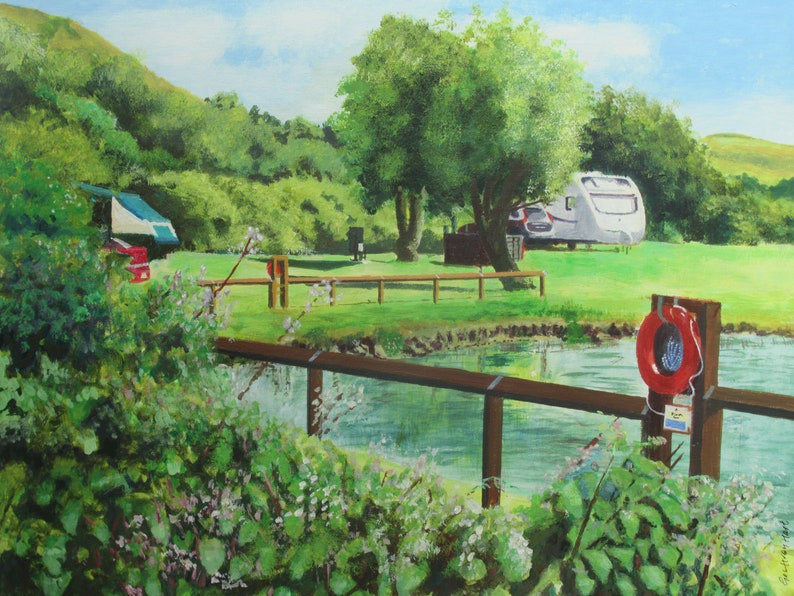 A scenic picture Uphill Marina  Signed open edition A3 image 0