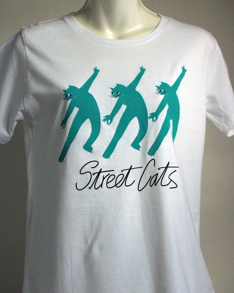 T shirts-Woman's White-Cats-Dancing image 0