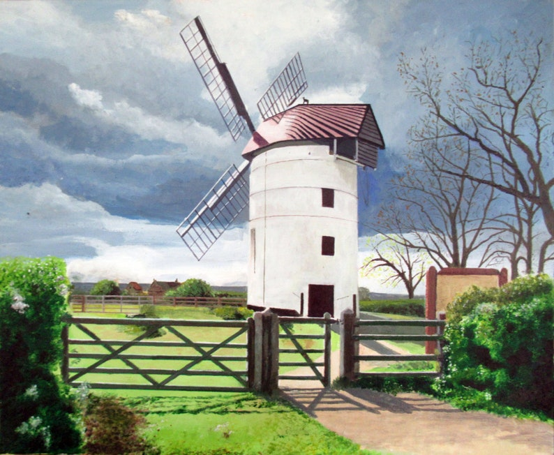 Ashton Windmill Somerset  Signed Open edition Giclee print image 0